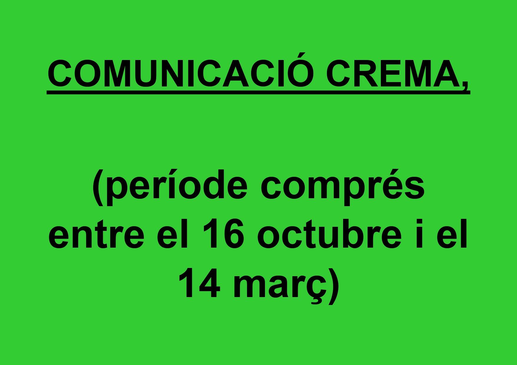 Comunicaci� crema